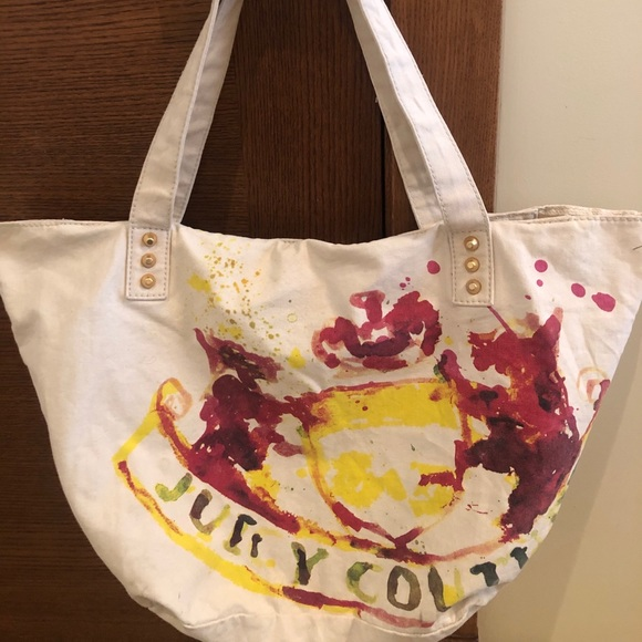 🌷 Juicy Couture canvas tote bag
